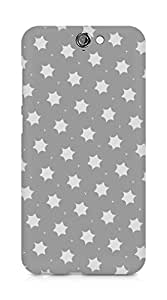 Amez designer printed 3d premium high quality back case cover for HTC One A9 (simple grey stars)