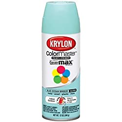 Krylon 51512 Blue Ocean Breeze Interior and Exterior Decorator Paint - 12 oz. Aerosol