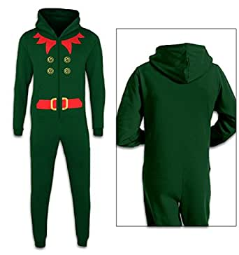 Elf Costume (Red Detail) Kids Onesie