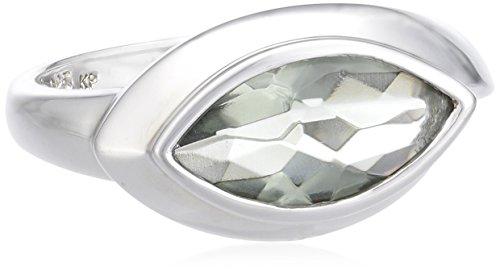 Celesta Damen-Ring 925 Sterling Silber Glaskristall grau W: 360270763-3L