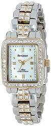 Armitron Womens 755057MPTT Two-Tone Rectangular Bracelet