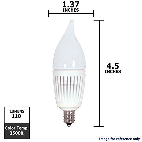 Kolourone 2.7W Candelabra Frost Flame Twist 3500K Led Dimmable Bulb