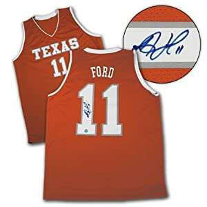 T.j. Ford Texas Longhorns Autographed Hand Signed Ncaa Basketball Jersey by Hall+of+Fame+Memorabilia
