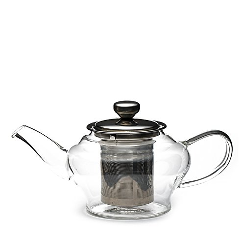 Neo Teapot, Glass Teapot With Infuser (Borosilicate Glass), 235 gms | Teabox