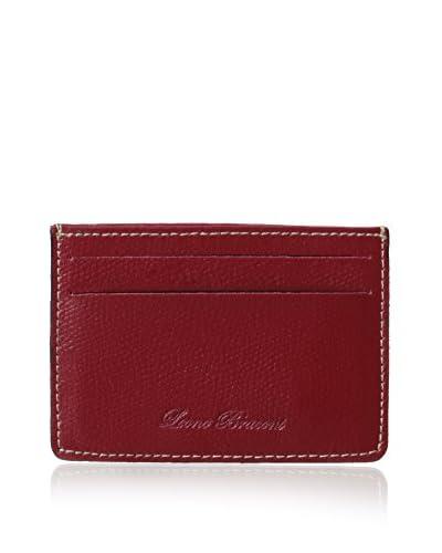 Leone Braconi Men's Saffiano Leather Card Case