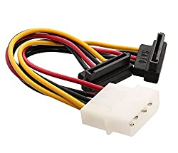 Syba 4 Pin Molex to Dual SATA Power 5 Inch Cable (SY-CAB40047)