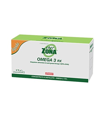 Enervit Enerzona Integratore Alimentare di Acidi grassi Omega 3 RX - 5 Flaconi