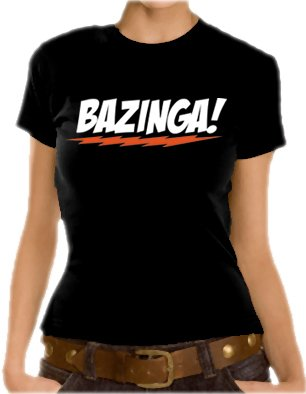 The Big Bang Theory - Bazinga Logo Girlie T-Shirt Black M