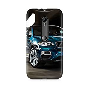 Motivatebox - Moto X Style Back Cover - BMW Blue Car Polycarbonate 3D Hard case protective back cover. Premium Quality designer Printed 3D Matte finish hard case back cover.