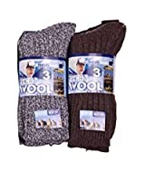 6pairs Mens Chunky Wool Outdoor Thermal Socks Hike Boot Winter Warm Thick Socks