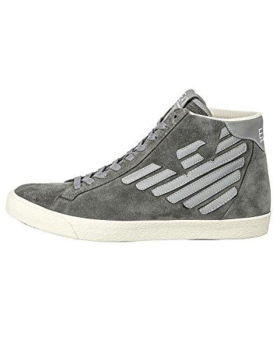 EA7 Emporio Armani New Pride sneakers alte grigio con logo catarinfrangente grigio uomo -42