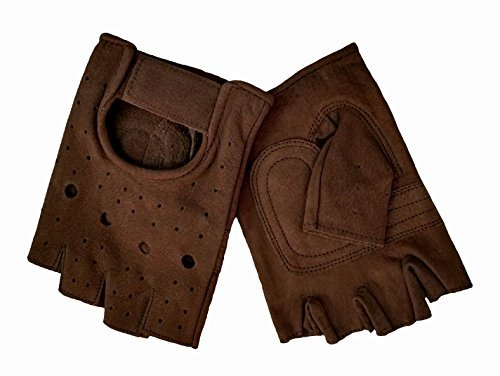allstate-leathers-mens-brown-retro-suede-leather-fingerless-gloves-2xl