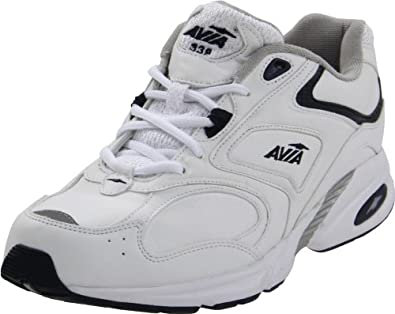 AVIA  Men's A339M Walking Shoe,White/Navy,8 M US