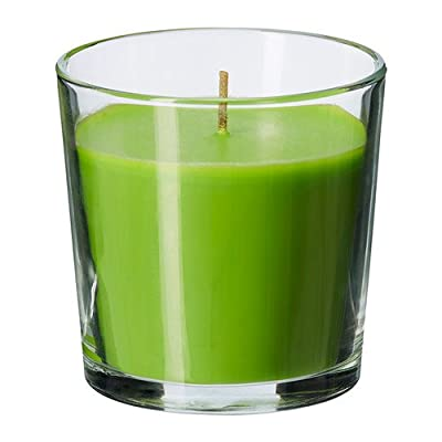 SINNLIG Scented candle in glass, Crisp apple, green, Height: 7.5 cm Burning time: 25 hr.