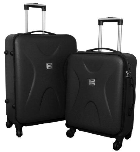 Trolley-Koffer-Set - 2-teilig - SCHWARZ - Superleicht