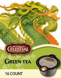 64 Count, Celestial Seasonings Green Tea For Vue Brewers (4 - 16 Count Vue Packs)
