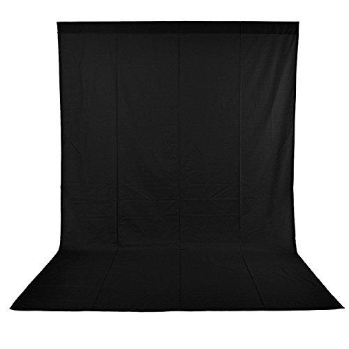 Neewer 6x9 ft/ 1.8x2.8m Photo Studio 100% Mousseline Pure Pliant Toile de Fond pour Photographie, Vidéo et Télévision (Noir)