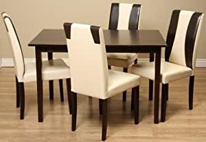 contemporary oak faux leather dining room