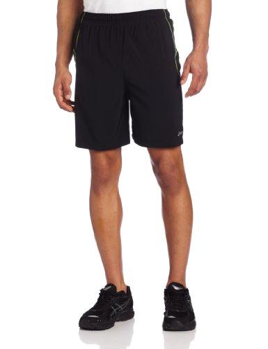 ASICS ASICS Men's 9072 Lazer Woven Short, Black/Neon, Large