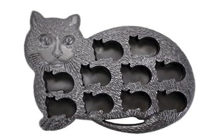 Fairly Odd Novelties Novelty Gag Gift Cat Kitten Shape 10-Ice Cube Tray Mold, Rubber, Black