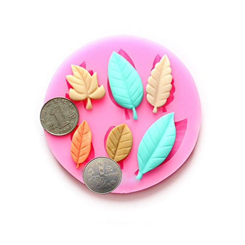 Bluelover DIY Leaves Chocolate Mold Resin Flower Fondant Cake Decorating Mold (Resin Cookie Mold compare prices)