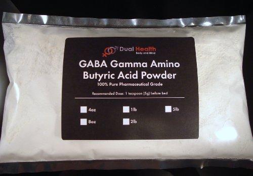 5 Lb. Gaba Gamma Aminobutyric Acid 1000Mg Powder (2.27Kg) For: Sleep Mood Stress Diet Fat Burner Usp & Fcc Pharmaceutical Grade By Dual Health