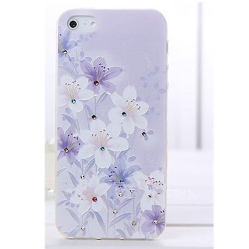 EVTECH(TM) 3D TPU Embossed Series Elegant Flower