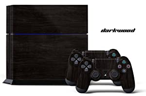 PS4 Designer Skin for Sony PlayStation 4 Console System plus Two(2) Decals for: PS4 Dualshock Controller - Darkwood