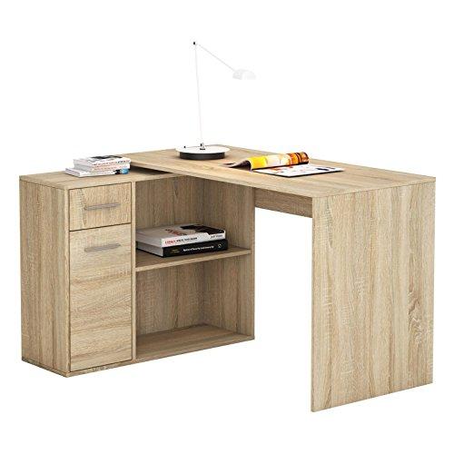 Eckschreibtisch-Schreibtisch-Computertisch-LENA-in-Sonoma-Eiche-mit-Regal-Kinderschreibtisch-120x75x915-cm
