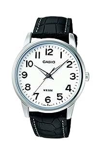 Casio - MTP-1303L-7BVEF - Montre Homme - Quartz Analogique - Cadran Blanc - Bracelet Cuir Noir