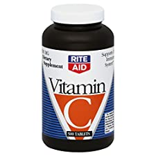 Rite Aid Vitamin C, 500 mg, Tablets, 500 tablets