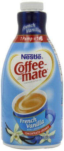 Coffee-Mate Coffee Creamer, French Vanilla Pump Bottle, 1.5L (Pack Of 2)