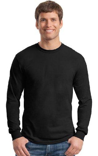 Gildan Men's Ultra Blend Moisture-Wicking Long-Sleeve T-Shirt ( 12 Pack ) vapjoy jellyfish wicking cotton pack