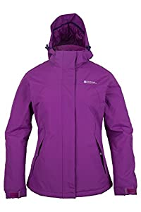 Mountain Warehouse Spirit Womens Insulated Hooded Fleece Lined Snowboarding Skiing Ski Jacket Purple 14