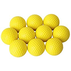 Generic Golf Ball Golf Training Soft Foam Balls Practice Ball - Yellow 10pcs