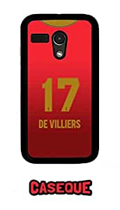 Caseque IPL Royal Challengers Banglore De Villiers Jersey Back Shell Case Cover For Moto G (1st Gen.)