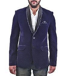 FashionSeva Men's Blazer (Blaz-003_Purple_38)