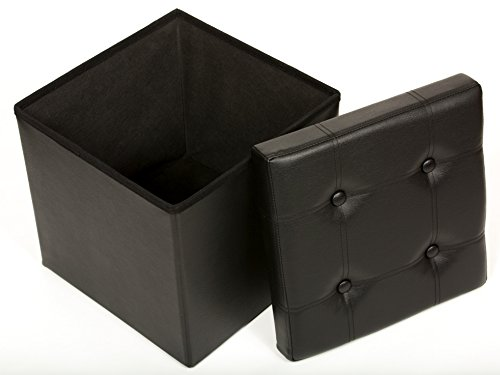 The Fhe Group Tufted Folding Storage Ottoman 15 By 15 By