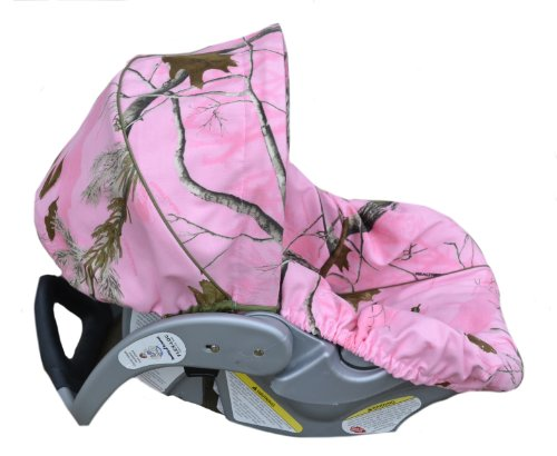 Infant-Car-Seat-Cover-Baby-Car-Seat-Cover-Slip-Cover-Pink-Camo