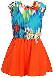 Euphoria Girls' Dress (SKU279F, Multi-Coloured, 4-5 Years)