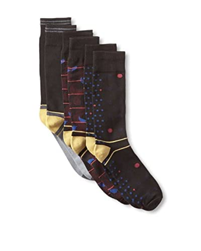 Florsheim Men's Patterned Socks - 3 Pack