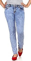 Klorophyl Women Blue Washed Jeans