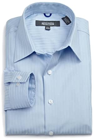 Kenneth Cole Reaction Men's Mercer Slim Fit Dress Shirt, Ice Blue, 14.5 32-33