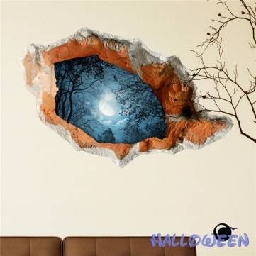 pag-sticker-3d-wall-decals-halloween-wall-hole-sticker-home-party-wall-decor-gift