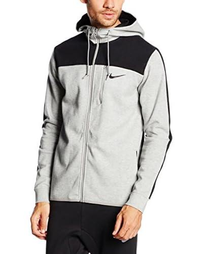 Nike Sudadera con Cierre Gris / Negro