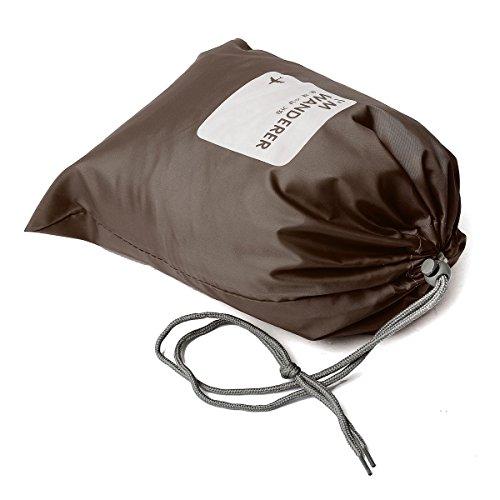CAMTOA 防水 旅行用収納バッグ 巾着袋 収納袋 バッグ 収納ポーチ トラベル収納バッグ 靴 服 化粧品 小物 収納 4サイズセット ブラウン