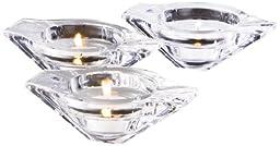 Nambe Crystal Link Votive/Candleholder, Set of 3
