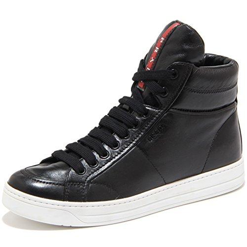Prada scarpe sneakers alte donna in pelle nuove nero EU 36 3T5770 ORE F0967