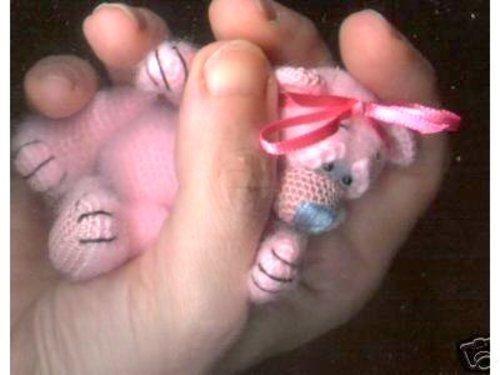 Bombon Mini Thread Crochet Bear PATTERN