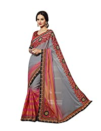 Aarti Latest Fashionable Party Wear Fancy Saree Bridal Embroidery Saree Wedding Wear Free Size - B00VRM6SSI